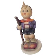 Hummel Figurine Little Hiker with Walking Stick from West Germany