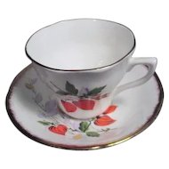 Royal Imperial Bone China Cup and Saucer with Chinese Lantern Decoration