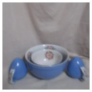 Hall's Superior Quality Kitchenware Large Blue Mixing Bowl with Royal Rose with Platinum Trim