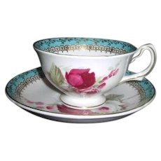 Royal Grafton English Bone China Cup & Saucer with Roses