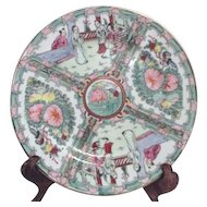 Hand Decorated Rose Familia Plate from Hong Kong