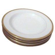 Set of 4 GDA Limoges France Gold Border Soup Bowls