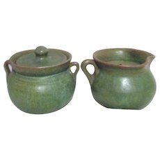 Artisan Pottery Cream and Sugar Candle Holders