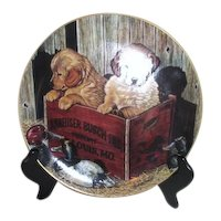 Buddies Decorative Plate Budweiser Man's Best Friends Collection