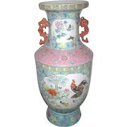 """29 """" High Hand Painted Chinese Vase with Pheasant"""