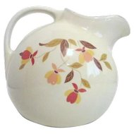 Hall Jewel Tea Autumn Leaf Pattern Ball Jug