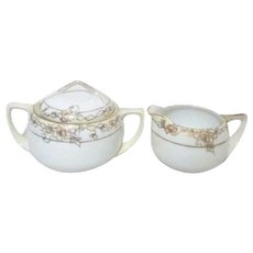 Noritake Cream and Sugar Early 1900's