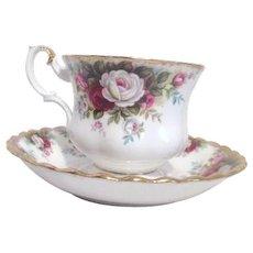 Royal Albert Bone China Celebration Pattern Cup Saucer
