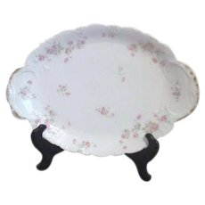 "Theodore Haviland Limoges Antique 16"" Serving Platter Marie Pattern"