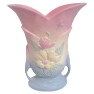 Hull Art Pottery Two Handled Vase with Wildflowers Matte Finish