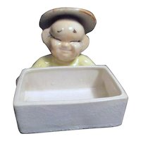 Cheerful Asian Worker Planter or Container