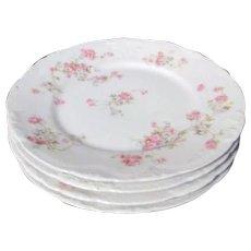 Theodore Haviland Limoges Antique Set of 4 Salad or Dessert Plates Marie Pattern