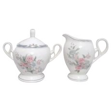 Noritake Brighton Springs Pattern Cream and Sugar Set