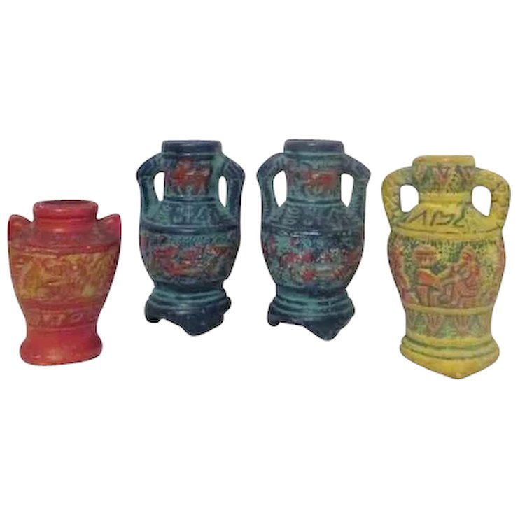 Set Of 4 Miniature Vases Made In Occupied Japan Something