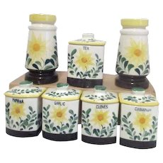 Set of 7 Ceramic Spice Containers by NASCO