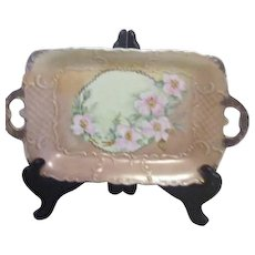 Gerold Porzellan Hand Decorated Double handled Tray from Bavaria Western Germany