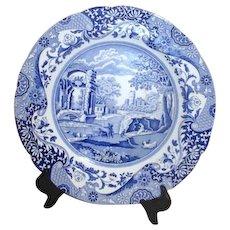 Spode Blue and White Decorator Plate Italian Design