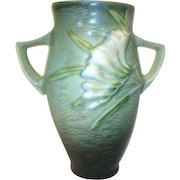 Roseville Pottery Double Handled Vase