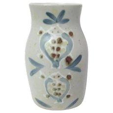 Pottery Vase with Marine Animal Motif