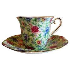 Taylor & Kent Chintz Demitasse Cup and Saucer from England