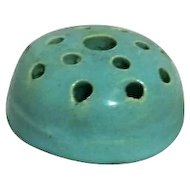 Round Ceramic Unmarked Flower Frog