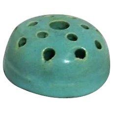 Round Ceramic Unmarked Flower Frog