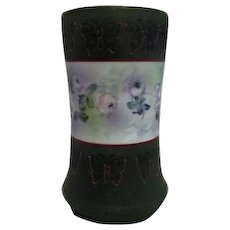 """Royal Bayreuth of Bavaria 5 1/2"""" high vase with Hand Decorated Flowers and Butterflies"""