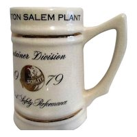 1979 Mug from Schlitz for Best Safety Performance in Winston Salem Plant