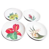 Santa Anita Flowers of Hawaii Set of 4 Individual Fruit Bowls