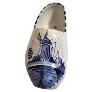 Delft Blue and White Hand Painted Dutch Shoe Planter