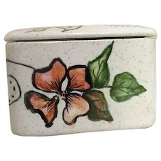 Hand Painted Lidded Pottery Box