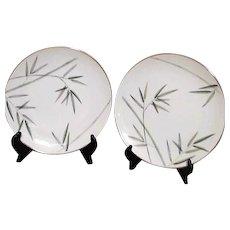 Noritake Platinum Trim Bambina Design 2 Dinner Plates