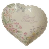Mikasa Special Thank-you Heart Shaped Bowl