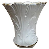 Lenox Cream Colored Vase with Gold Trim