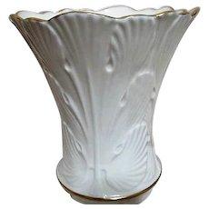 Lenox Cream Colored Vase with Gold Trim