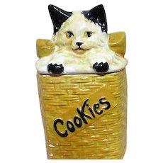 McCoy Cookie Jar Cat in a Basket