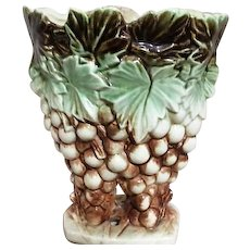 McCoy Vase with Grapes and Leaf Motif