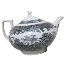 Black and White Wedgwood Teapot Made in England