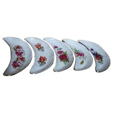 Set of 5 Bone Plates by Chadwick Made in Japan
