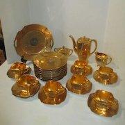 20 Piece Bavarian Dessert Serving Set 24 Carat Gold Encrusted and Platinum 1928-1946