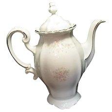 Bavarian Coffee Server from Johann Haviland Platinum Trim Floral Splendor