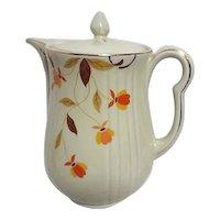 Jewel Tea Autumn Leaves Coffee Pot by Hall