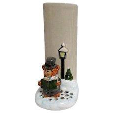 Otagiri Vase with Caroling Bear from Japan