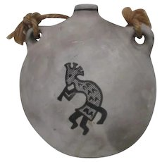 Unsigned Native American/Indian Pottery Water Jug with Handpainted Kokopelli