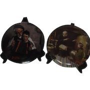 Set of Two Norman Rockwell Collector Plates Music Maker and The Veteran Bradford Mint