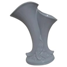 Double Cornucopia Light Blue Vase