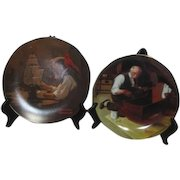 Pair of Norman Rockwell Collector Plates Grandpa's Gift and The Ship Builder