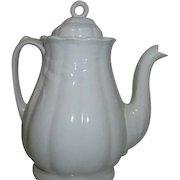 J. Broadhurst Mfr Fentonstone Staffordshire Wheat Pattern Coffee Pot Late 1800's