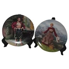 Pair of Movie Decorator Plates Sound of Music and King and I