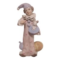 George Z Lefton Figurine Magician Clown with Rabbit in Hat 1986